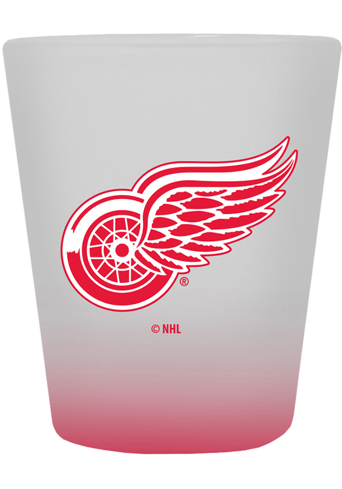 Detroit Red Wings 2oz Frosted Shot Glass - Image 1