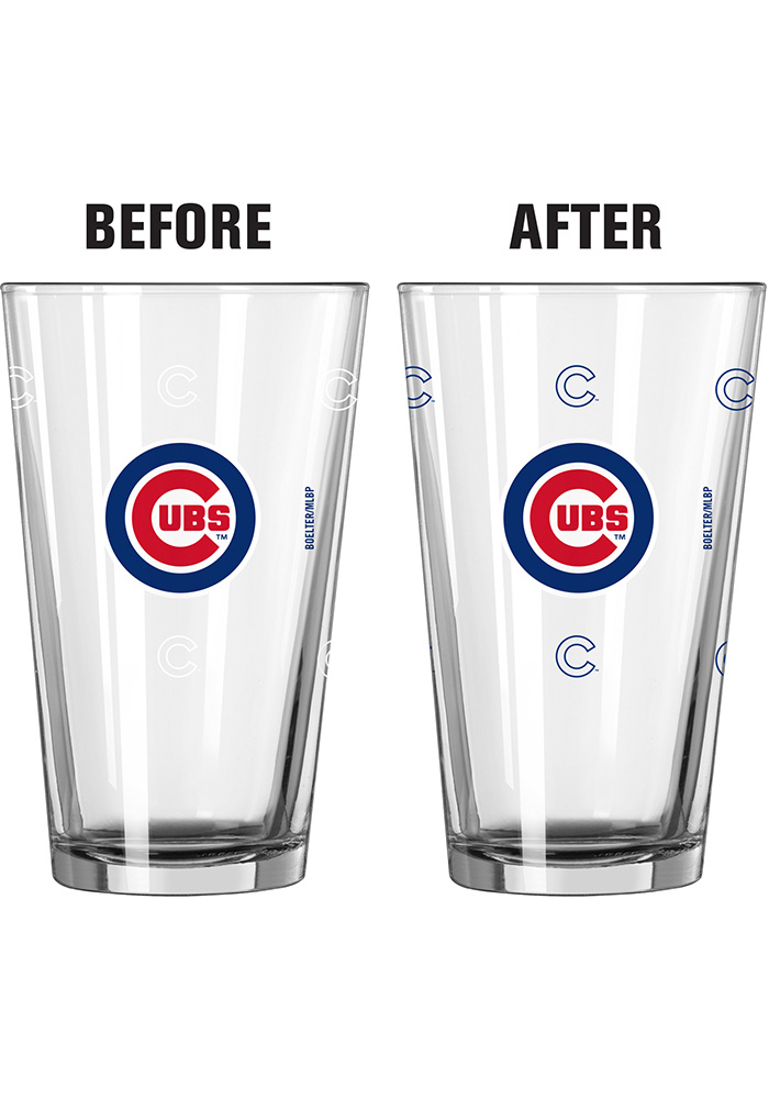 Chicago Cubs 16oz Color Changing Pint Glass - Image 2