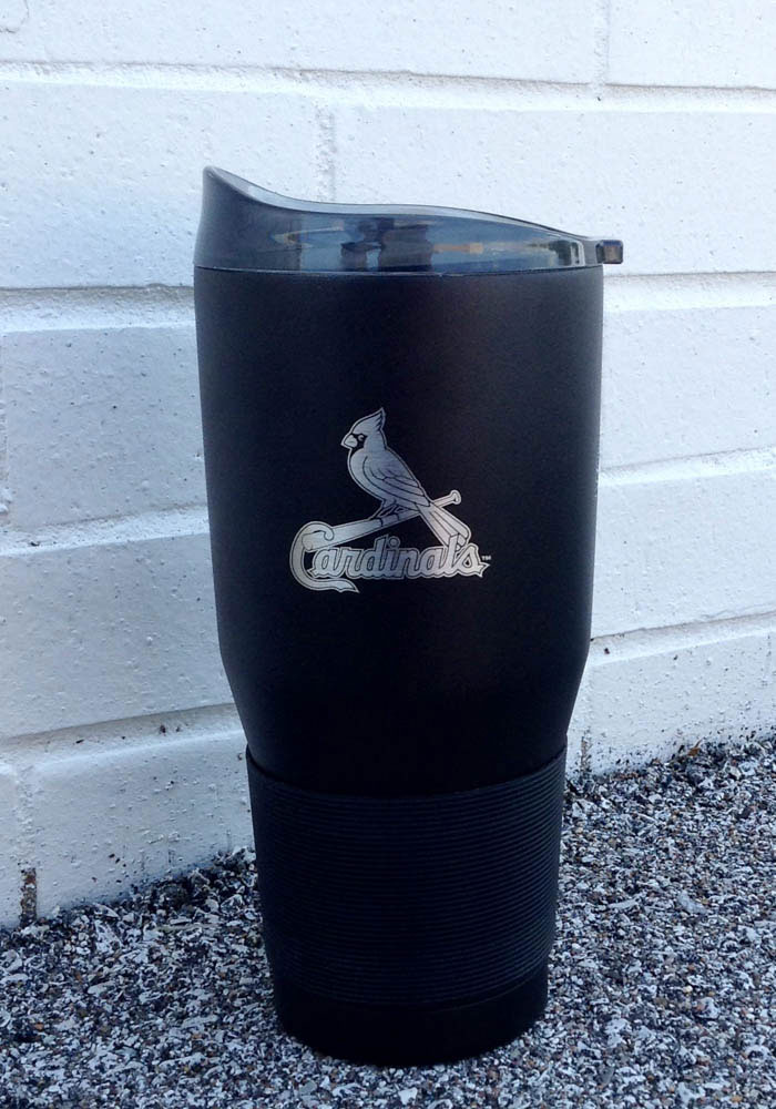 St Louis Cardinals Powder Coated 30oz Ultra Stainless Steel Tumbler - Black - Image 2