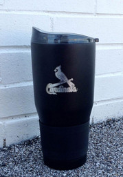St Louis Cardinals Powder Coated 30oz Ultra Stainless Steel Tumbler - Black