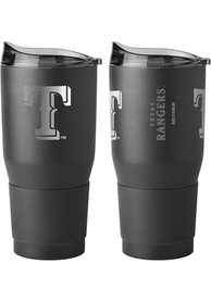 Texas Rangers Powder Coated 30oz Ultra Stainless Steel Tumbler - Black