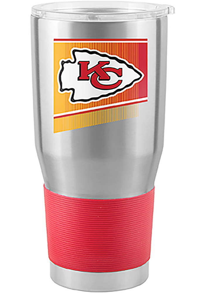 Kansas City Chiefs Shield 30oz Ultra Silver Stainless Steel Tumbler - Image 1