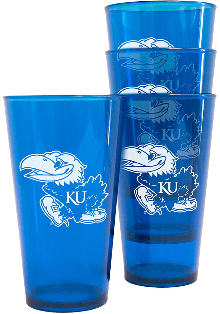 Kansas Jayhawks Plastic Pint Glass - Image 1