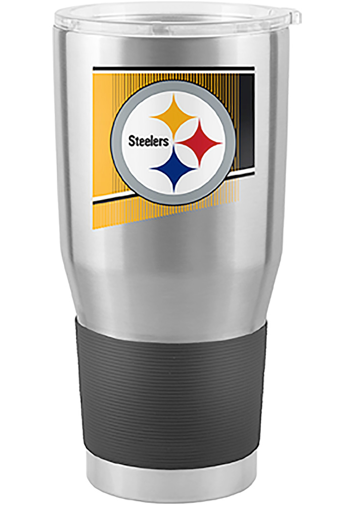 Pittsburgh Steelers Shield 30oz Ultra Silver Stainless Steel Tumbler - Image 1