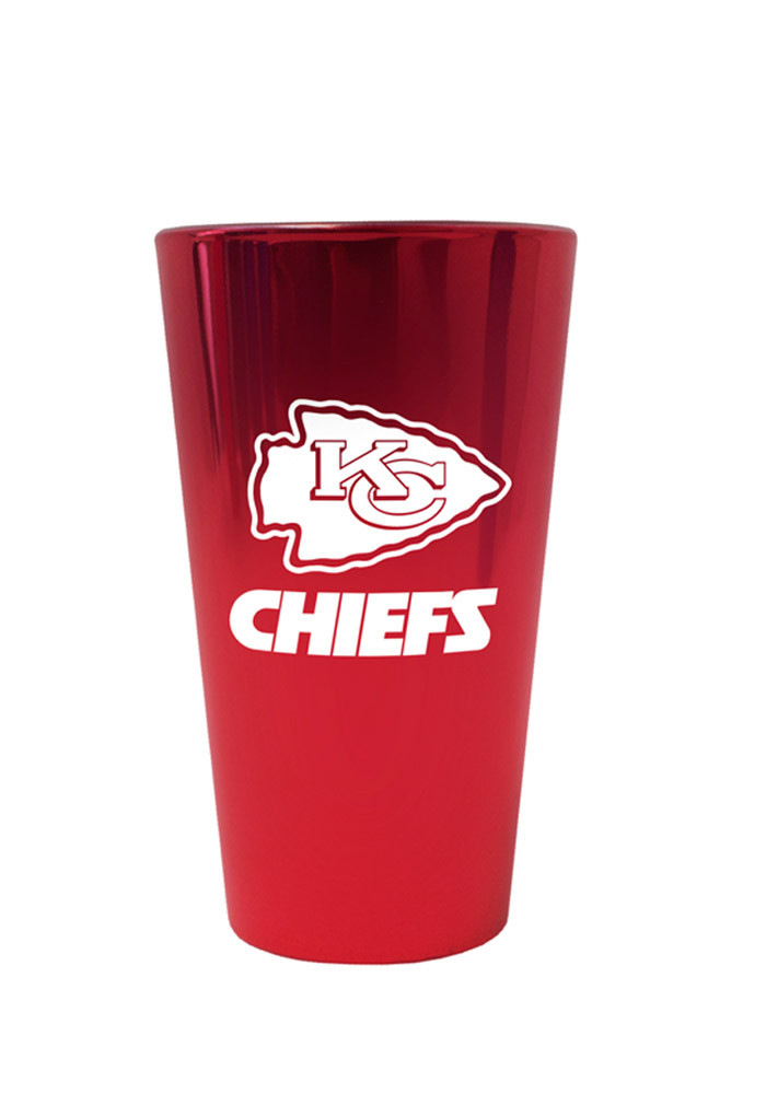 Kansas City Chiefs 16oz Red Lusterware Pint Glass - Image 1