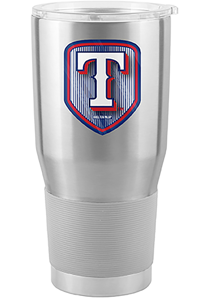 Texas Rangers Shield 30oz Ultra Stainless Steel Tumbler - Silver - Image 1