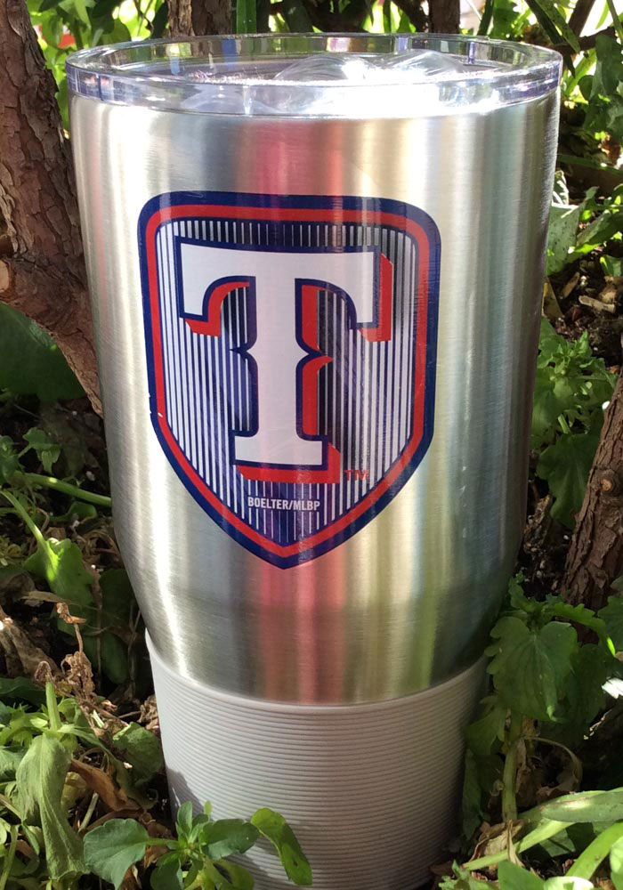 Texas Rangers Shield 30oz Ultra Stainless Steel Tumbler - Silver - Image 2
