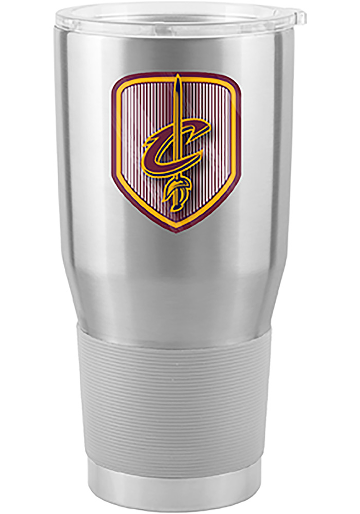 Cleveland Cavaliers Shield 30oz Ultra Stainless Steel Tumbler - Silver - Image 1