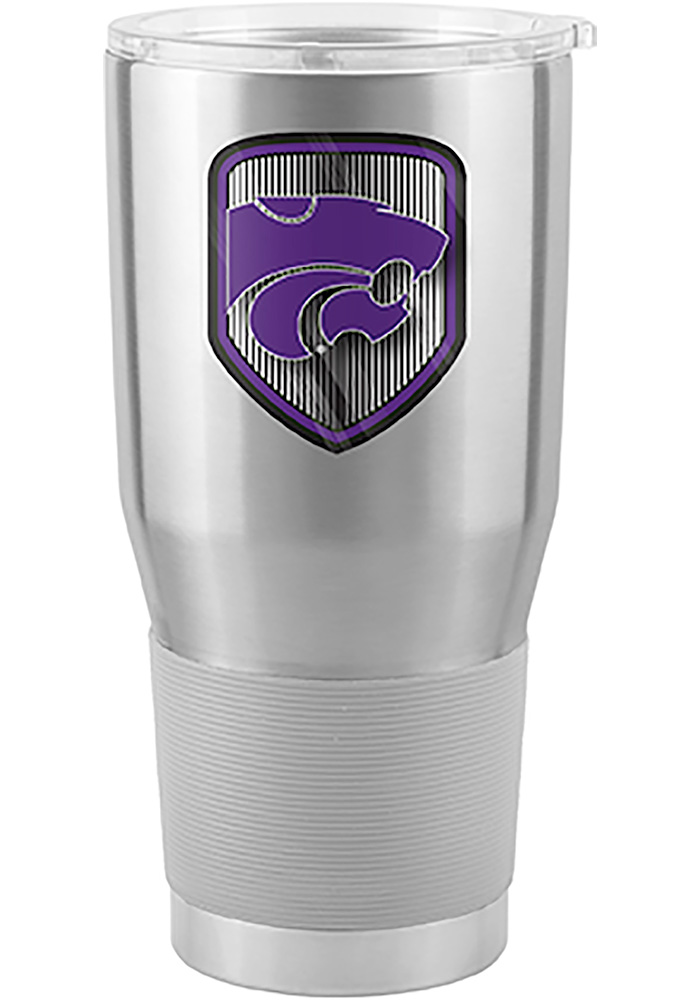 K-State Wildcats Shield 30oz Ultra Silver Stainless Steel Tumbler - Image 1