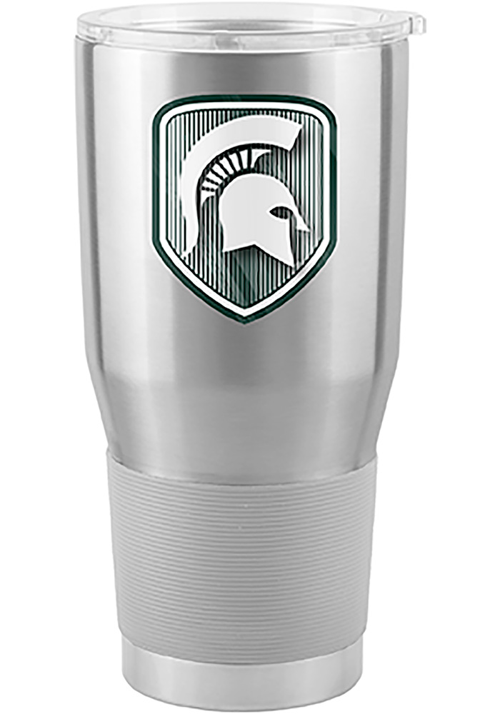 Michigan State Spartans Shield 30oz Ultra Stainless Steel Tumbler - Silver