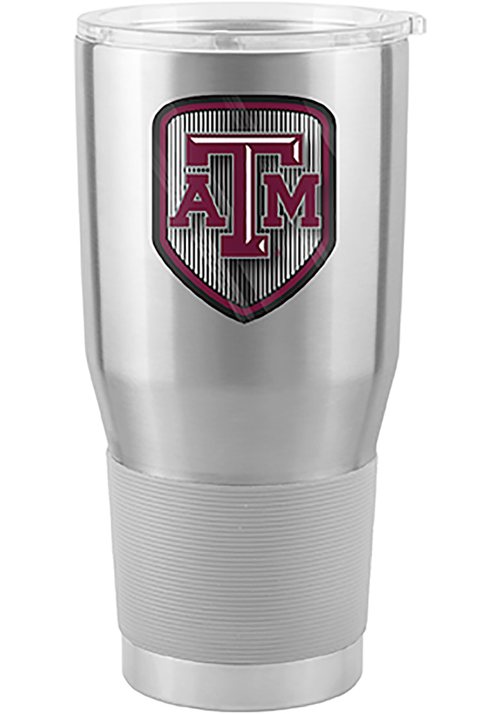 Texas A&M Aggies Shield 30oz Ultra Stainless Steel Tumbler - Silver - Image 1