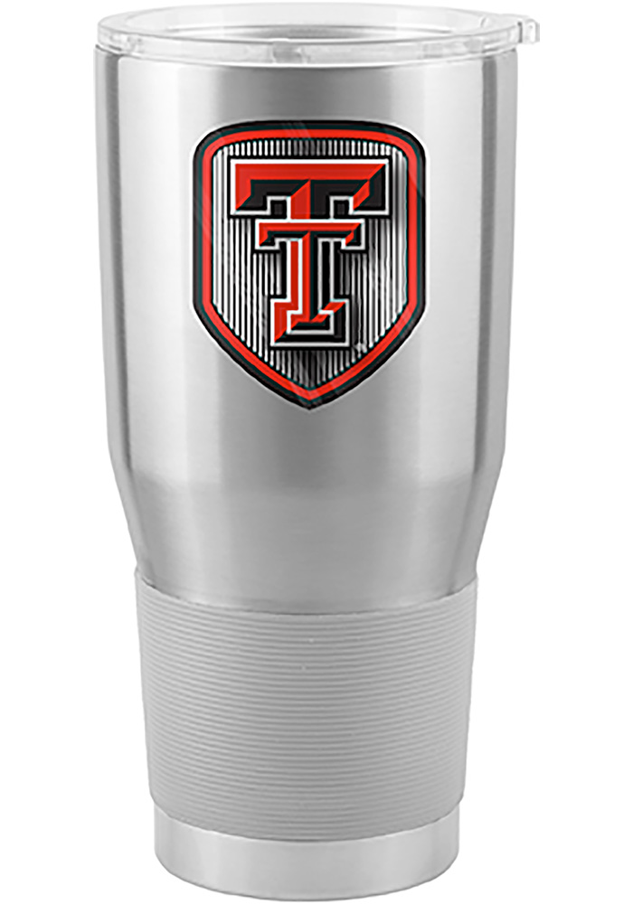 Texas Tech Red Raiders Shield 30oz Ultra Silver Stainless Steel Tumbler - Image 1