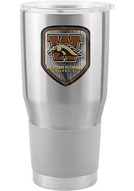 Western Michigan Broncos Shield 30oz Ultra Stainless Steel Tumbler - Silver
