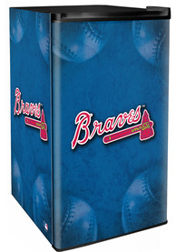 Atlanta Braves Blue Counter Height Refrigerator