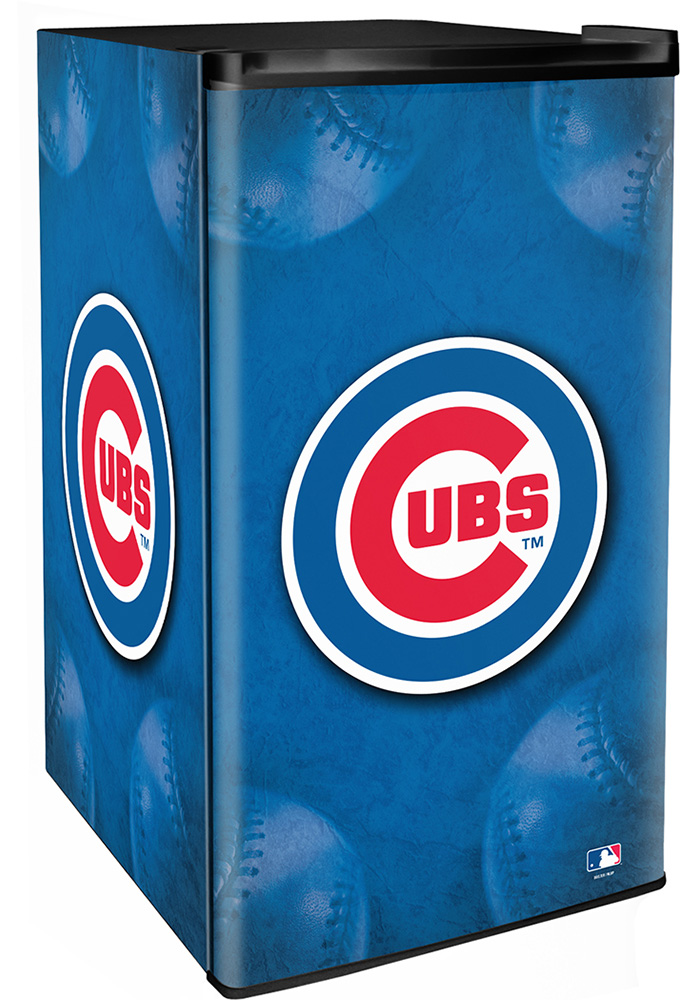 Chicago Cubs Blue Counter Height Refrigerator - Image 1