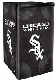 Chicago White Sox Black Counter Height Refrigerator