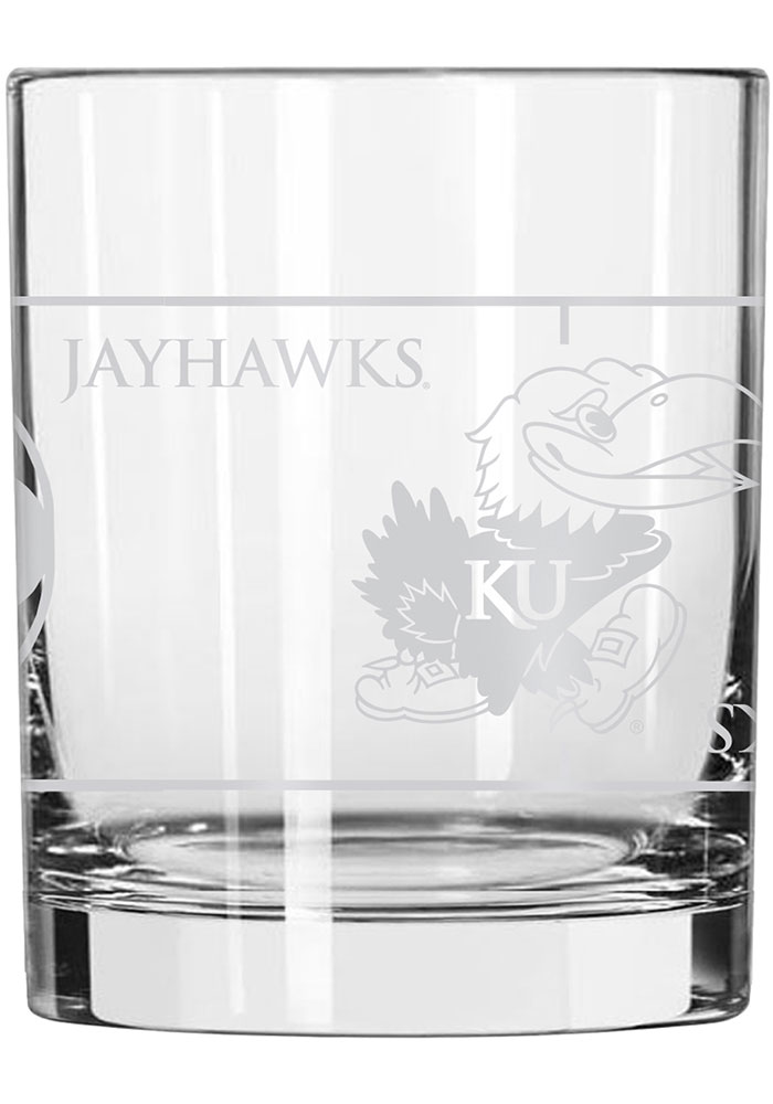 Kansas Jayhawks Naismith Court Rock Glass - Image 2