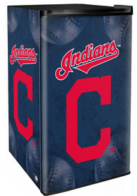 Cleveland Indians Blue Counter Height Refrigerator