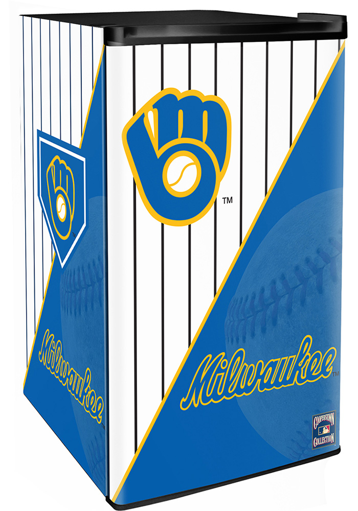 Milwaukee Brewers Blue Counter Height Refrigerator - Image 1