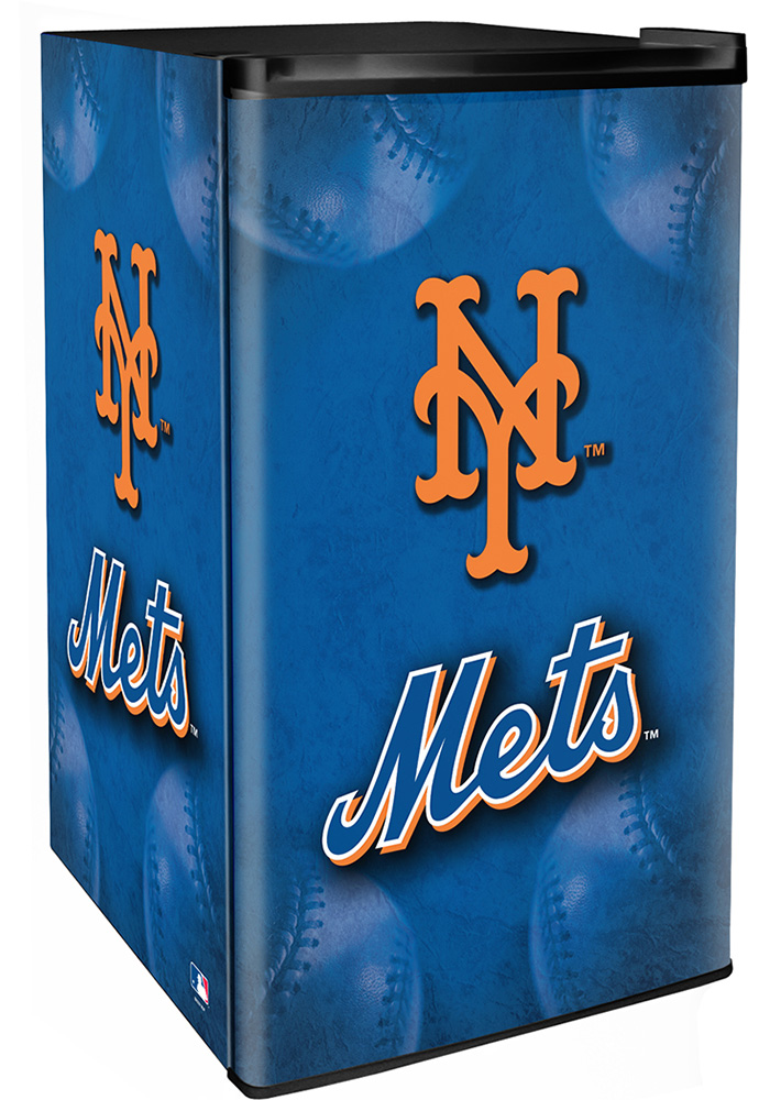New York Mets Blue Counter Height Refrigerator - Image 1