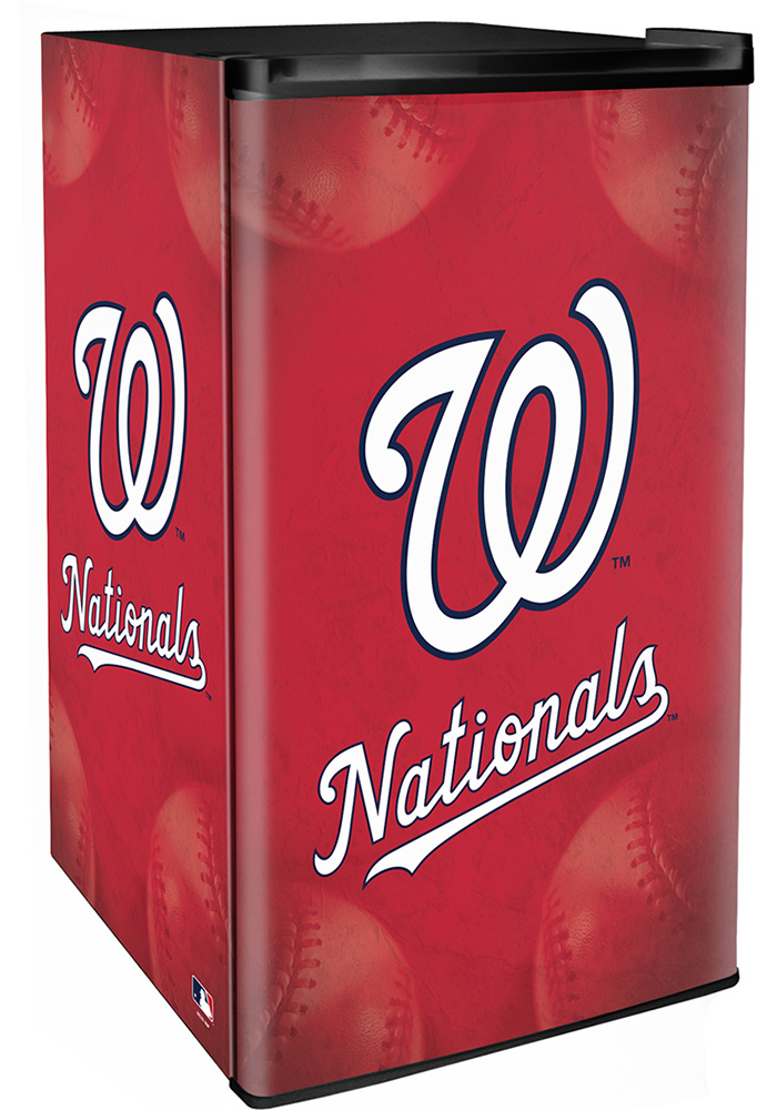 Washington Nationals Red Counter Height Refrigerator - Image 1