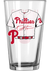 Philadelphia Phillies 16oz Name and Number Pint Glass