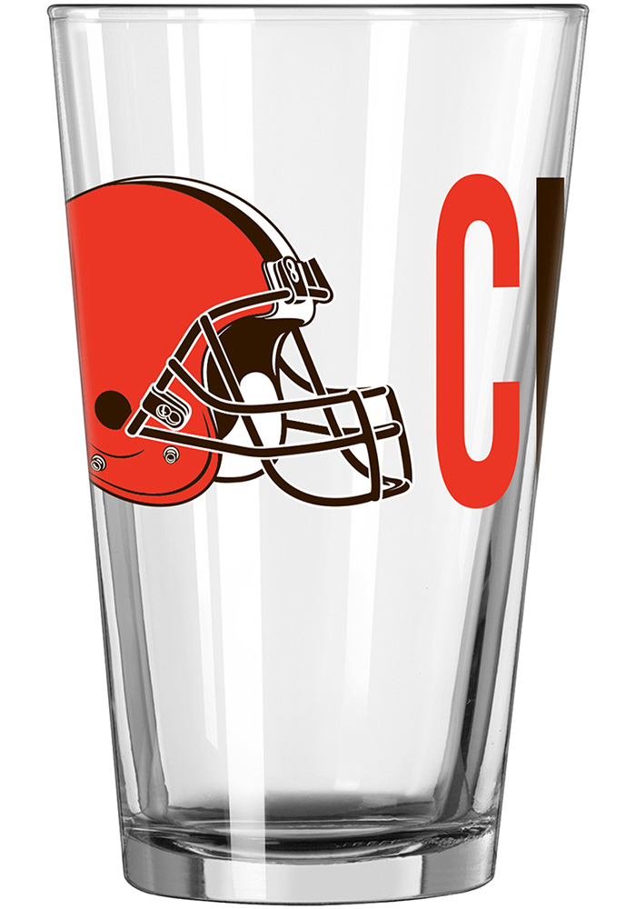 Cleveland Browns 16oz Overtime Pint Glass - Image 1
