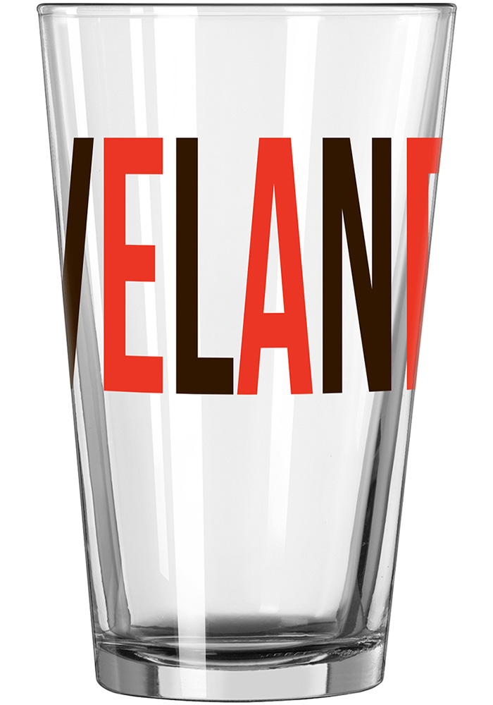Cleveland Browns 16oz Overtime Pint Glass - Image 2