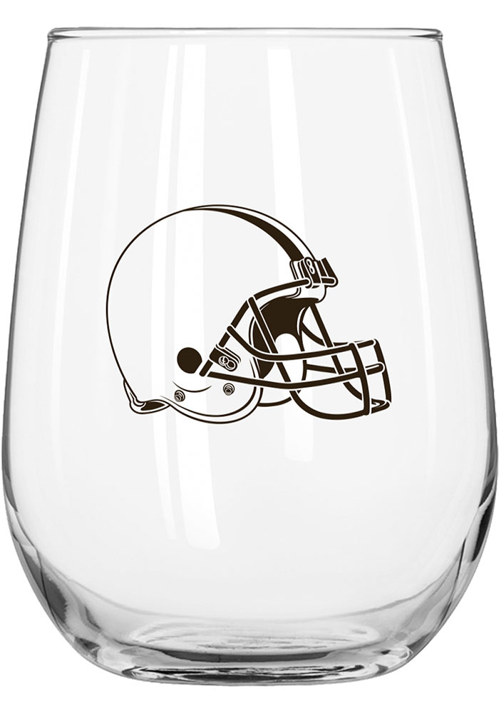 Cleveland Browns 16oz Stemless Wine Glass - Image 1