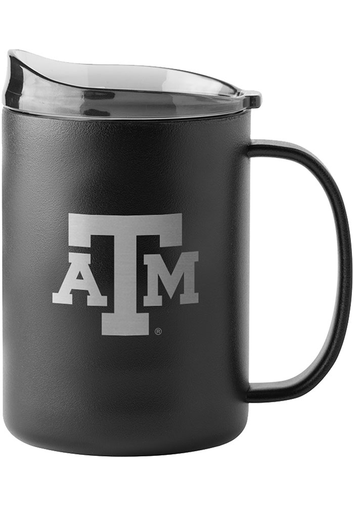 Texas A&M Aggies 15oz Ultra Powdercoat Mug Stainless Steel Tumbler - Black