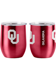 Oklahoma Sooners 16oz Curved Ultra Stemless Wine Stainless Steel Tumbler - Red