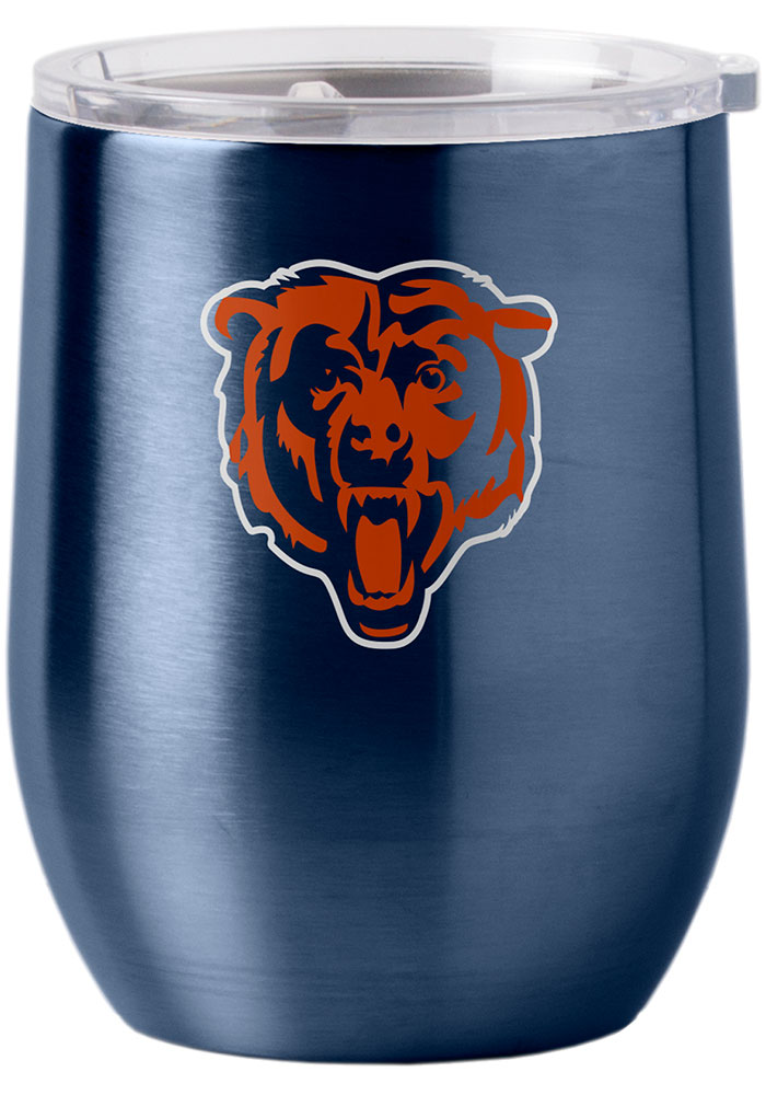 Chicago Bears 16oz Curved Ultra Stemless Wine Stainless Steel Tumbler - Orange - Image 1