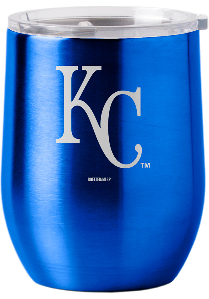 Kansas City Royals 16oz Curved Ultra Wine Stainless Steel Tumbler - Blue