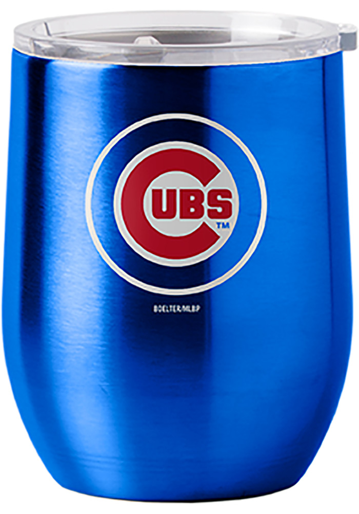 Chicago Cubs 16oz Curved Ultra Wine Stainless Steel Tumbler - Blue - Image 1
