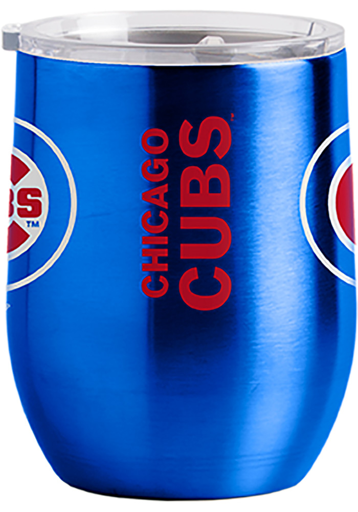 Chicago Cubs 16oz Curved Ultra Wine Stainless Steel Tumbler - Blue - Image 2