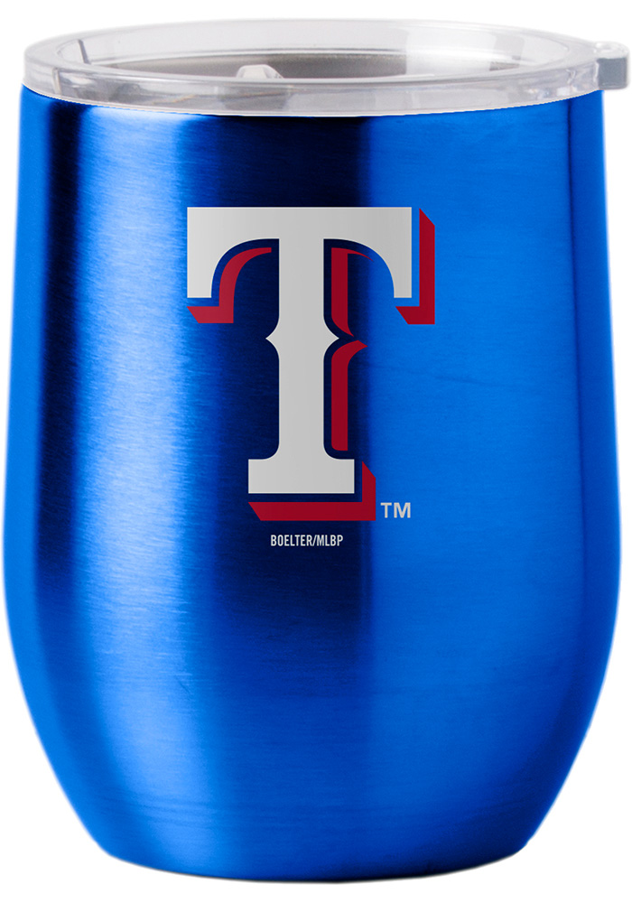 Texas Rangers 16oz Curved Ultra Wine Stainless Steel Tumbler - Blue - Image 1