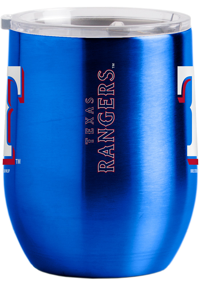 Texas Rangers 16oz Curved Ultra Wine Stainless Steel Tumbler - Blue - Image 2