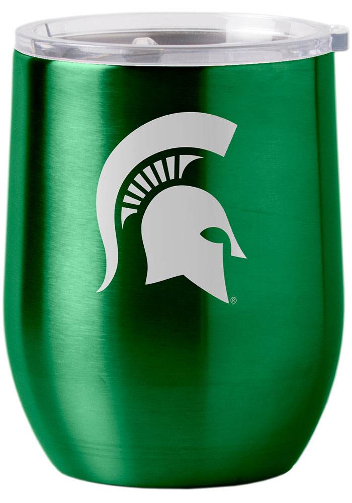 Michigan State Spartans 16oz Curved Ultra Wine Stainless Steel Tumbler - Green