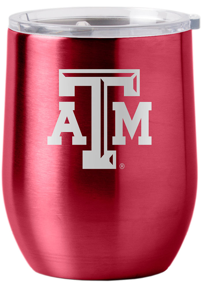 Texas A&M Aggies 16oz Curved Ultra Wine Stainless Steel Tumbler - Maroon - Image 1