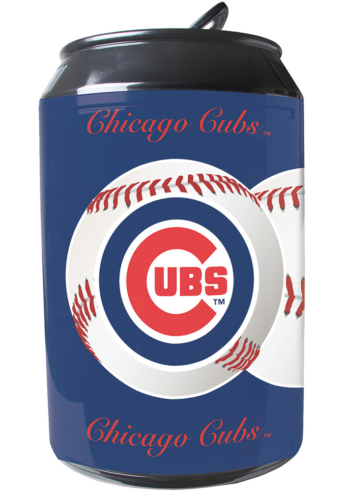 Chicago Cubs Blue Portable Can Refrigerator - Image 1