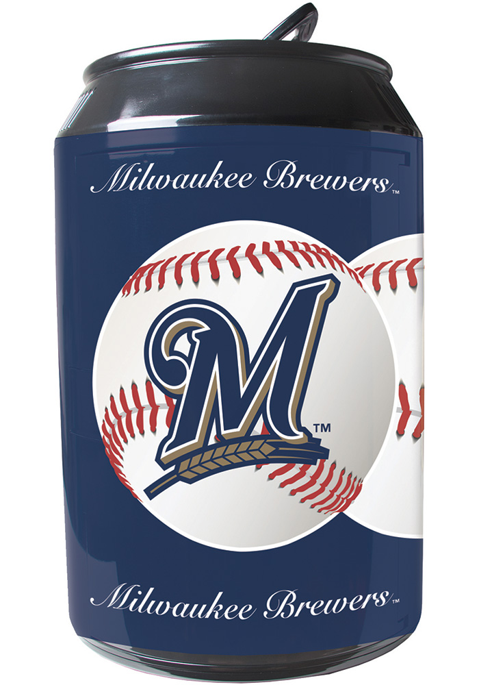 Milwaukee Brewers Navy Blue Portable Can Refrigerator - Image 1
