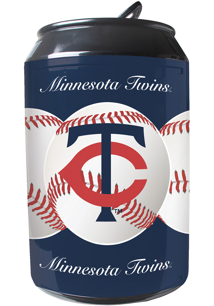 Minnesota Twins Navy Blue Portable Can Refrigerator - Image 1