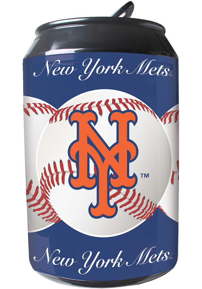 New York Mets Blue Portable Can Refrigerator - Image 1