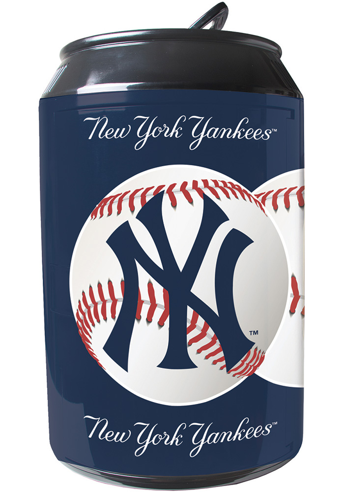 New York Yankees Navy Blue Portable Can Refrigerator - Image 1