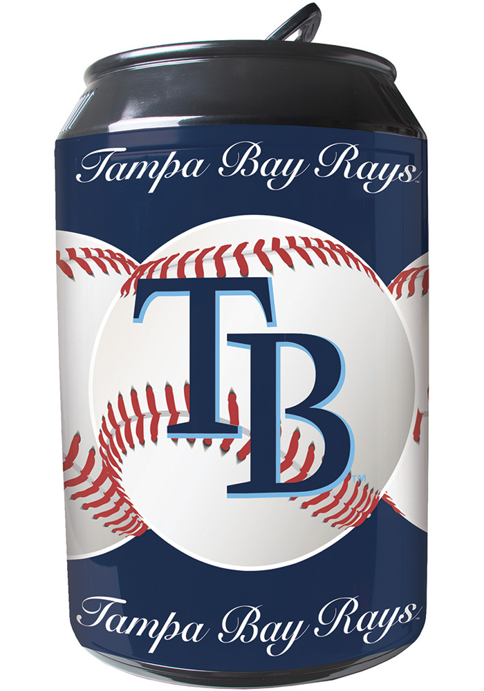 Tampa Bay Rays Navy Blue Portable Can Refrigerator - Image 1