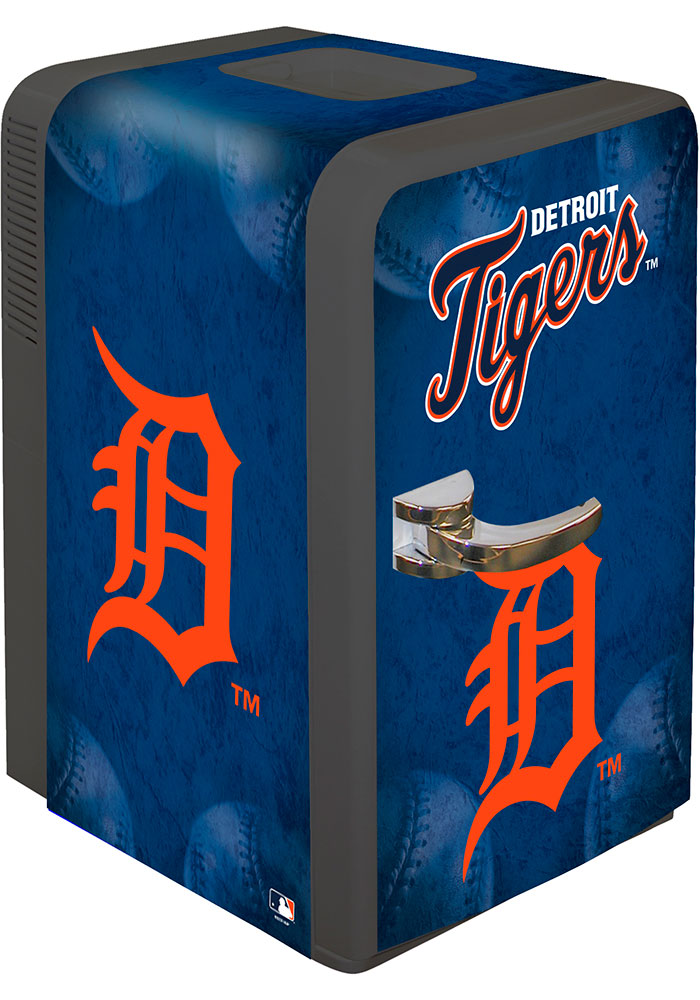 Detroit Tigers Blue Portable Party Refrigerator - Image 1