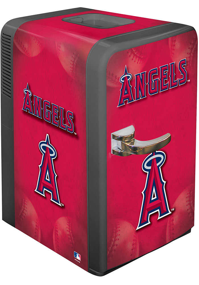 Los Angeles Angels Red Portable Party Refrigerator - Image 1