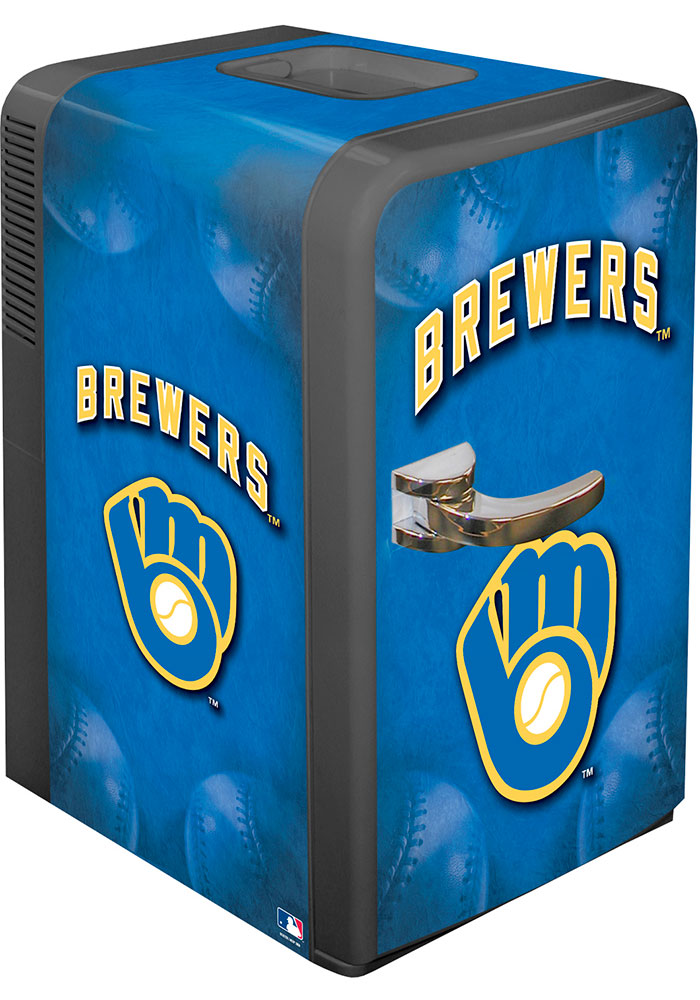 Milwaukee Brewers Blue Portable Party Refrigerator - Image 1
