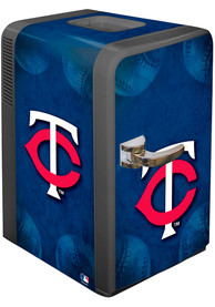 Minnesota Twins Blue Portable Party Refrigerator