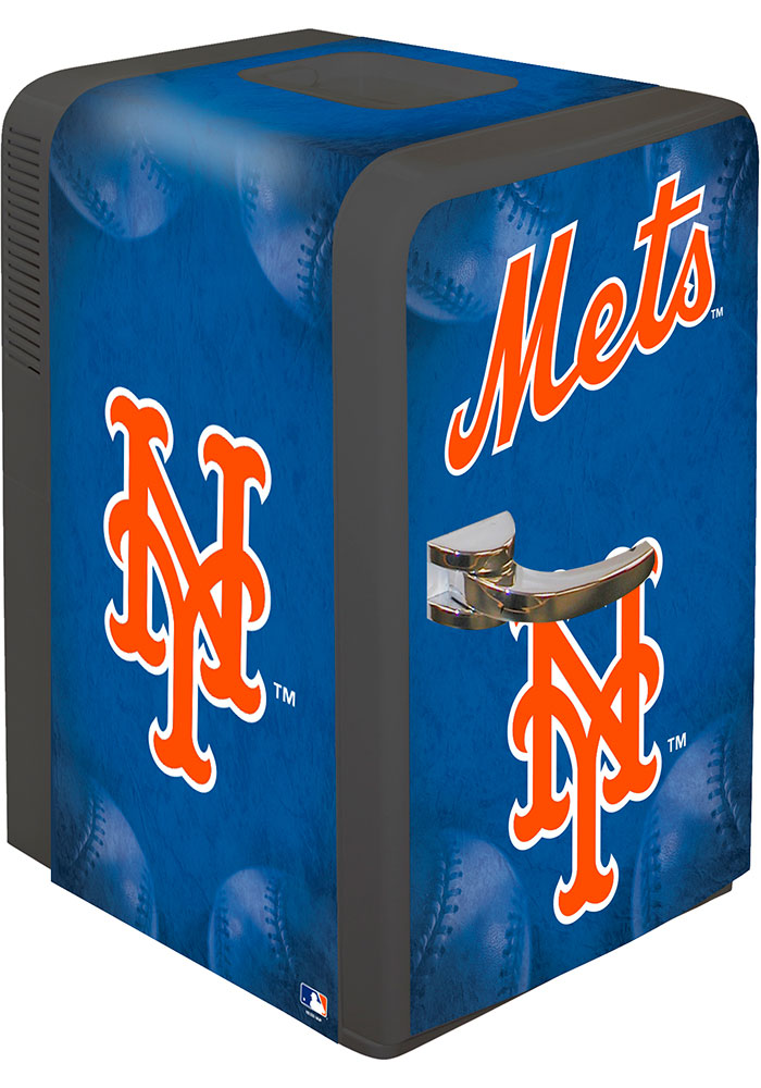 New York Mets Blue Portable Party Refrigerator - Image 1